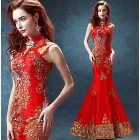 Wholesale Fashion long prom dress 30043 Red
