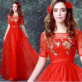 Wholesale Fashion long prom dress 30042 Red