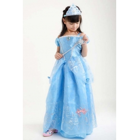 Wholesale Kids fashion prom dress with the 4-piece set accessories PQ1567