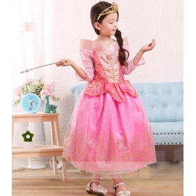 Wholesale Kids fashion prom dress with the 2-piece set accessories PQ1572 Pink