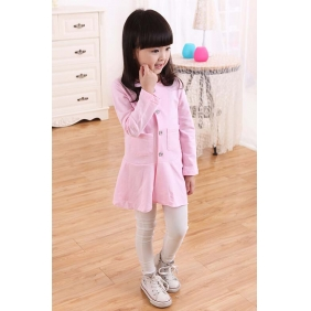 Wholesale Fashion kids long blouse dress PQ1580 Pink