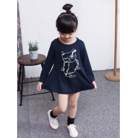 Wholesale Kids long blouse dress PQ1584 Blue