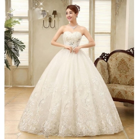Wholesale Fashion wedding dress with the 3-piece accessory 35230 White