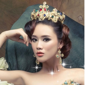 Wholesale Hair accessories with earing F10098