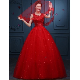 Wholesale Fashion wedding dress 35239 Red