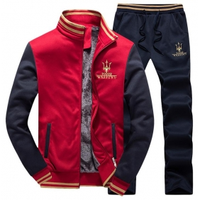 Wholesale Fashion man\'s tracksuit  T10523 Red