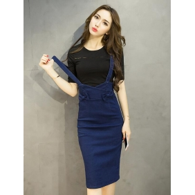 Wholesale Fashion 2-piece set denim dress A16111