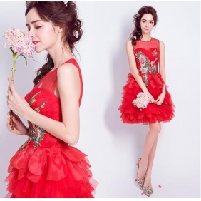 Wholesale Fashion mini prom dress 50383