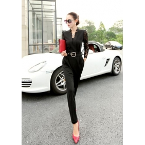 Wholesale Fashion jumpsuit B3438 with the belt and inner