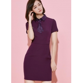 Wholesale Fashion office dress with the tie S2183