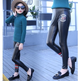 Wholesale Fashion kids PU pants PQ2136