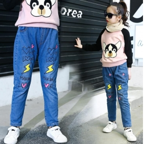 Wholesale Fashion kids jean pants PQ2149