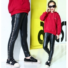 Wholesale Fashion kids PU pants PQ2152