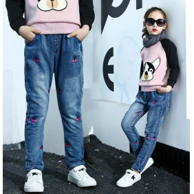 Wholesale Fashion kids jean pants PQ2154