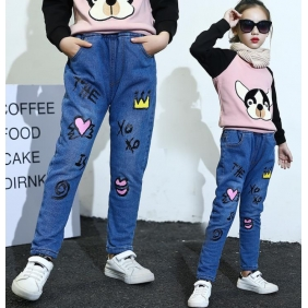 Wholesale Fashion kids jean pants PQ2155