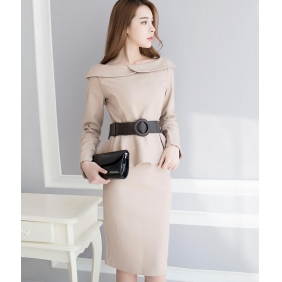 Wholesale Fashion dress with the belt K3372