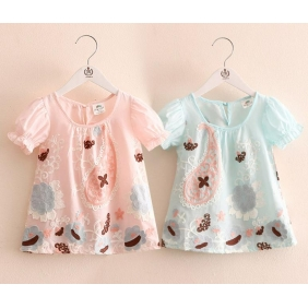 Wholesale Fashion kids blouse PQ2211