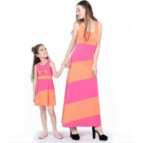 Wholesale Paretnt-child dress AU1085 Woman