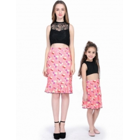 Wholesale Paretn-child 2-piece set dress AU1086 Woman