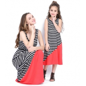 Wholesale Parent-child dress AU1087 Girl