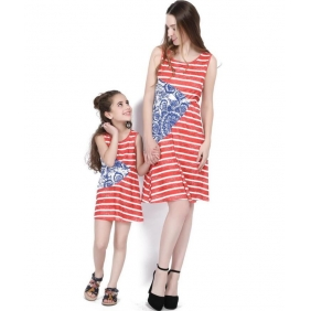 Wholesale Parent-child dress AU1089 Woman