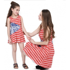 Wholesale Parent-child dress AU1089 Girl