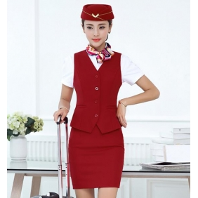 Wholesale Fashion office 3-piece set dress with the cap and scarf S2248
