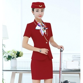 Wholesale Fashion office 3-piece set dress with the cap S2250