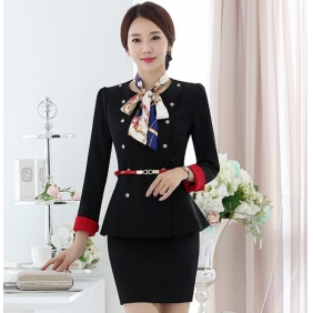 Wholesale Fashion office 2-piece set dress with the belt and scarf S2252