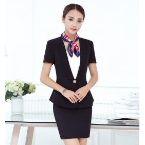 Wholesale Fashion 3-piece set office dress with the scarf S2254