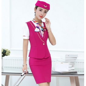 Wholesale Fashion 3-piece set office dress with the cap S2255