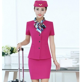 Wholesale Fashion 2-piece set office dress with the cap  S2256