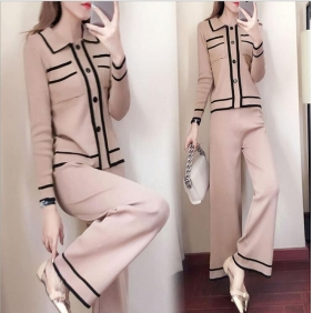 Wholesale Fahsion knit 2-piece set suit A19029