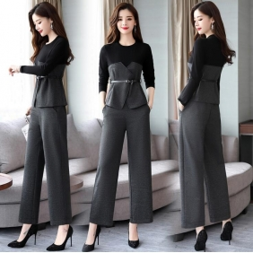 Wholesale High quality 2-piece set suit with the belt B3578