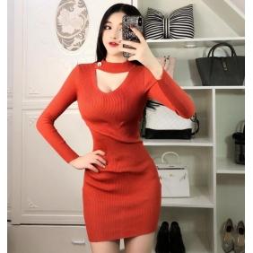 Wholesale Fashion knit dress A19458