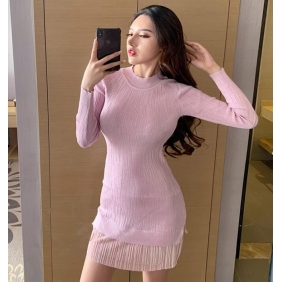 Wholesale Fashion knit dress A19712