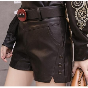 Wholesale Fashion leather pants with the belt A19733