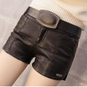Wholesale Fashion leather pants with the belt A19736