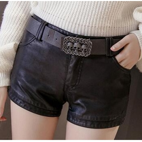 Wholesale Fashion leather pants with the belt A19737