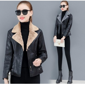 Wholesale Fashion leather jacket W5700