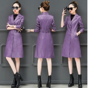 Wholesale Fashion leather coat W5704