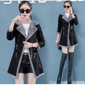 Wholesale Fashion leather coat W5710