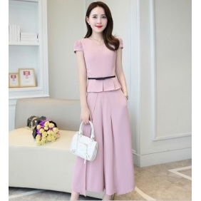 Wholesale High quality 2-piece set suit with the belt B3741