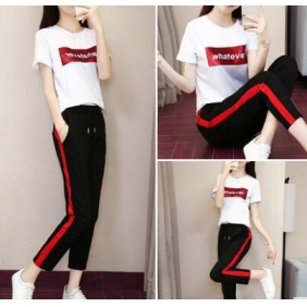 Wholesale Fashion 2-piece tracksuit T10974