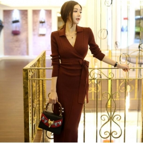 Wholesale Fashion knit dress K6501