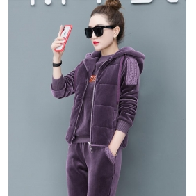 Wholesale Fashion 3-piece set tracksuit T11010