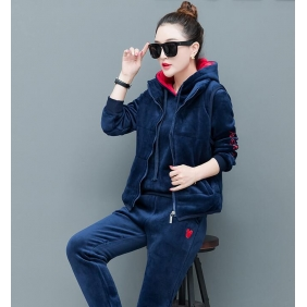 Wholesale Winter 3-piece set tracksuit T11012