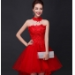 Wholesale Fashion mini prom dress with the necktie 30013 Red