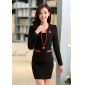 Wholesale Fashion 3-piece set suit with the brooch S2008 Black