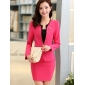 Wholesale Fashion 3-piece set suit with the brooch S2008 Rose pink
